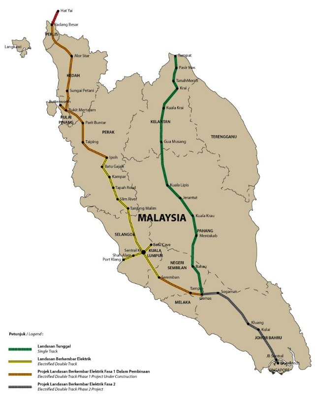 マレー鉄道の時刻表と解説